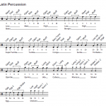 SE6 Template 6.0: Latin Percussion mapping diagram